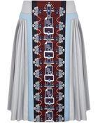 Mary Katrantzou Stepastopa Midi Pleated Skirt Embroidered - Lyst