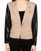 AX Paris Blazer With Wet Look Sleeves - Lyst