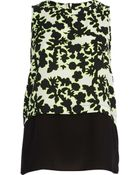 River Island Lime Printed Double Layer Tank Top - Lyst