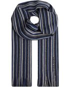 Hugo Boss Stripe Scarf Blue - Lyst