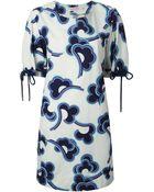 See By Chloé 'Rainbow Cloud' Print Dress - Lyst
