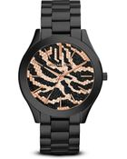 Michael Kors Zebra Print Slim Runway Watch 42mm - Lyst