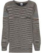 M Missoni Silk-Paneled Wool-Blend Sweater - Lyst