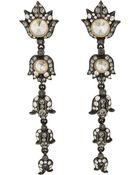 Lanvin Multidrop Blanche Earrings - Lyst