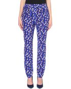 Stella McCartney Blossom-Printed Silk Trousers - For Women - Lyst