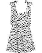 Dolce & Gabbana Polka-Dot Cotton-Poplin Mini Dress - Lyst
