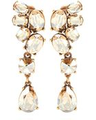 Oscar de la Renta Vintage Crystal-Embellished Clip-On Earrings - Lyst