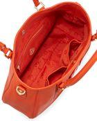 Tory Burch Amanda Classic Hobo Bag Blood Orange - Lyst