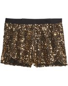 H&M Sequined Shorts - Lyst
