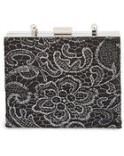 Natasha Couture Lacy Box Clutch - Lyst
