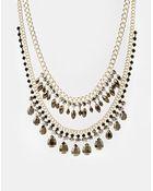 Oasis Teardrop Mash Collar Necklace - Lyst
