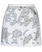 Topshop Brushed Sequin Mini Skirt - Lyst
