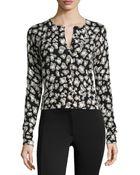 Diane von Furstenberg Wool-Blend Spotted Sweater - Lyst