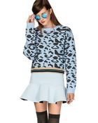 Pixie Market Monique Leopard Sweater - Lyst