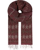 Dries Van Noten Bordeaux Embroidered Scarf - For Men - Lyst