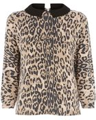 Oasis Animal Cropped Jumper - Lyst