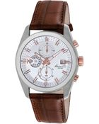 Kenneth Cole Mens Stainless Steel Chronograph Watch With Leather Strap - Lyst