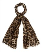 Jaeger Natural Leopard Print Scarf - Lyst