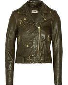 MICHAEL Michael Kors Leather Biker Jacket - Lyst