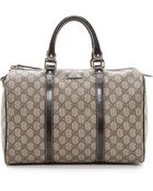 What Goes Around Comes Around Gucci Canvas Boston Bag - Brown - Lyst