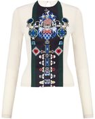 Mary Katrantzou Riva Crew Neck Top Embroidered - Lyst
