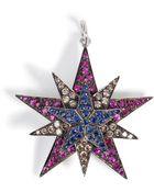 Ileana Makri Silver/18K Gold Pendant With Rubies, Diamonds, Sapphires - Lyst