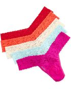 Hanky Panky Low Rise Five-Pack Thongs - Lyst