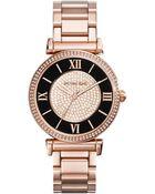 Michael Kors Women'S Caitlin Rose Gold-Tone Stainless Steel Bracelet Watch 42Mm Mk3339 - Lyst