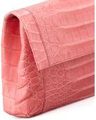 Nancy Gonzalez Crocodile Flap Clutch Bag - Lyst
