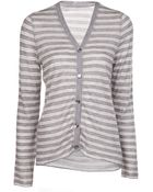 Lucien Pellat Finet Striped V-Neck Cardigan - Lyst