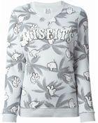 Zoe Karssen Misfits Palm-Print Cotton-Blend Sweatshirt - Lyst