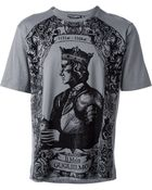 Dolce & Gabbana King Print T-Shirt - Lyst