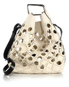 3.1 Phillip Lim Quill Cutout Leather Bucket Bag - Lyst