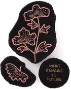 Ann Demeulemeester Embroidered Brooch - Lyst