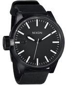 Nixon Chronicle All Black Watch - Lyst