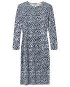 Tory Burch Silk Interlock Fitted Dress - Lyst