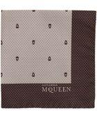 Alexander McQueen Skull Pindot Pocket Square - Lyst