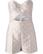 Michael Kors Perforated Playsuit - Lyst