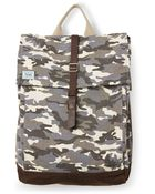 TOMS Charcoal Camo Canvas Adventure Backpack - Lyst