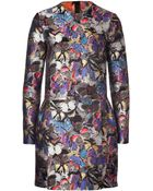 Valentino Brocade Butterfly Bambolina Dress - Lyst