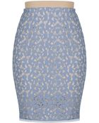 BCBGMAXAZRIA Bess Lace Pencil Skirt - Lyst
