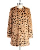MICHAEL Michael Kors Faux Fur Patterned Topper - Lyst