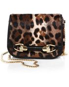 Jimmy Choo Spotted Calf Hair Leather Flap Bag - Lyst