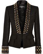 Balmain Embellished Tweed Blazer - Lyst