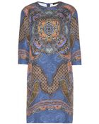 Etro Printed Jacquard Cotton And Silk-Blend Dress - Lyst
