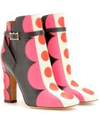 Valentino Carmen Leather Ankle Boots - Lyst