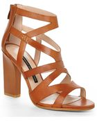 French Connection Tan Isla Sandals - Lyst