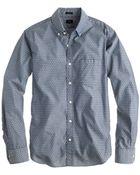 J.Crew Slim Chambray Shirt In Diamond Print - Lyst