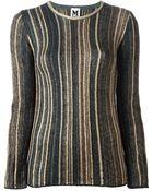 M Missoni Striped Sweater - Lyst