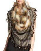 Gucci Survie Gg Fox Fur Stole - Lyst